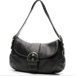 COACH Black & Silver Soho Hobo Shoulder Bag